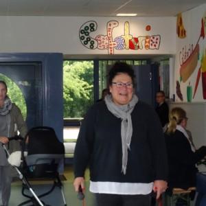 Rektorin Frau Ehler begrüßt die Gäste