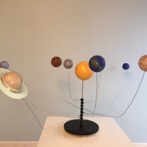 Das drehbare Sonnensystem von Angelika und Lea