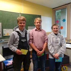 Lauritz, Sven und Janina wurden geehrt
